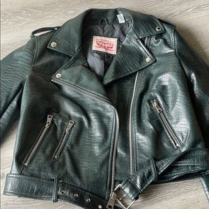 Levi's Faux Leather Belted Motorcycle Jacket